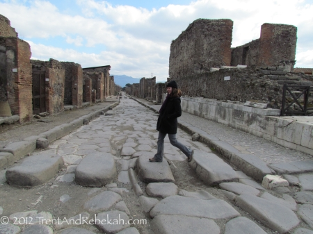 Crosswalk in Pompeii
