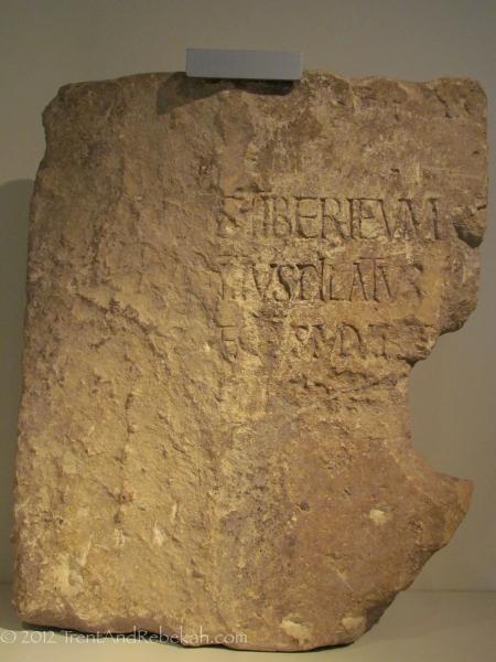 Pilate Stone TIberius Pontius Piltate