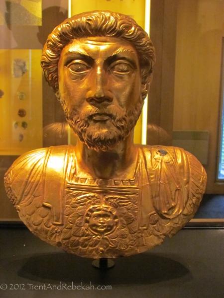 Golden Bust Emperor Marcus Aurelius Avenches