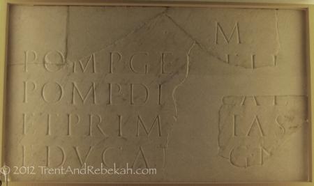 Pompeia Gemella Stele Titus educatrix