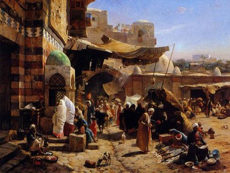 Market at Jaffa by Gustav Bauernfeind, 1887