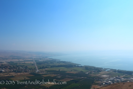 From Mt. Arbel, overlooking the Sea of Galilee