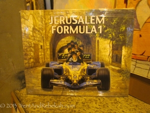 Jerusalem was celebrating its Formula 1 race.