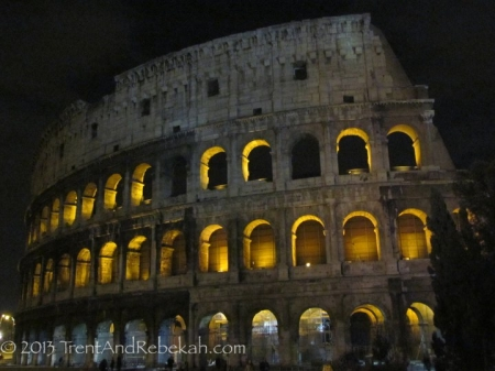 The Colosseum on a Cool Night in 2011